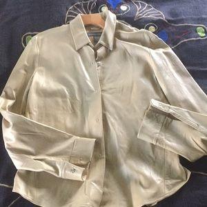 Vintage banana republic leather blouse